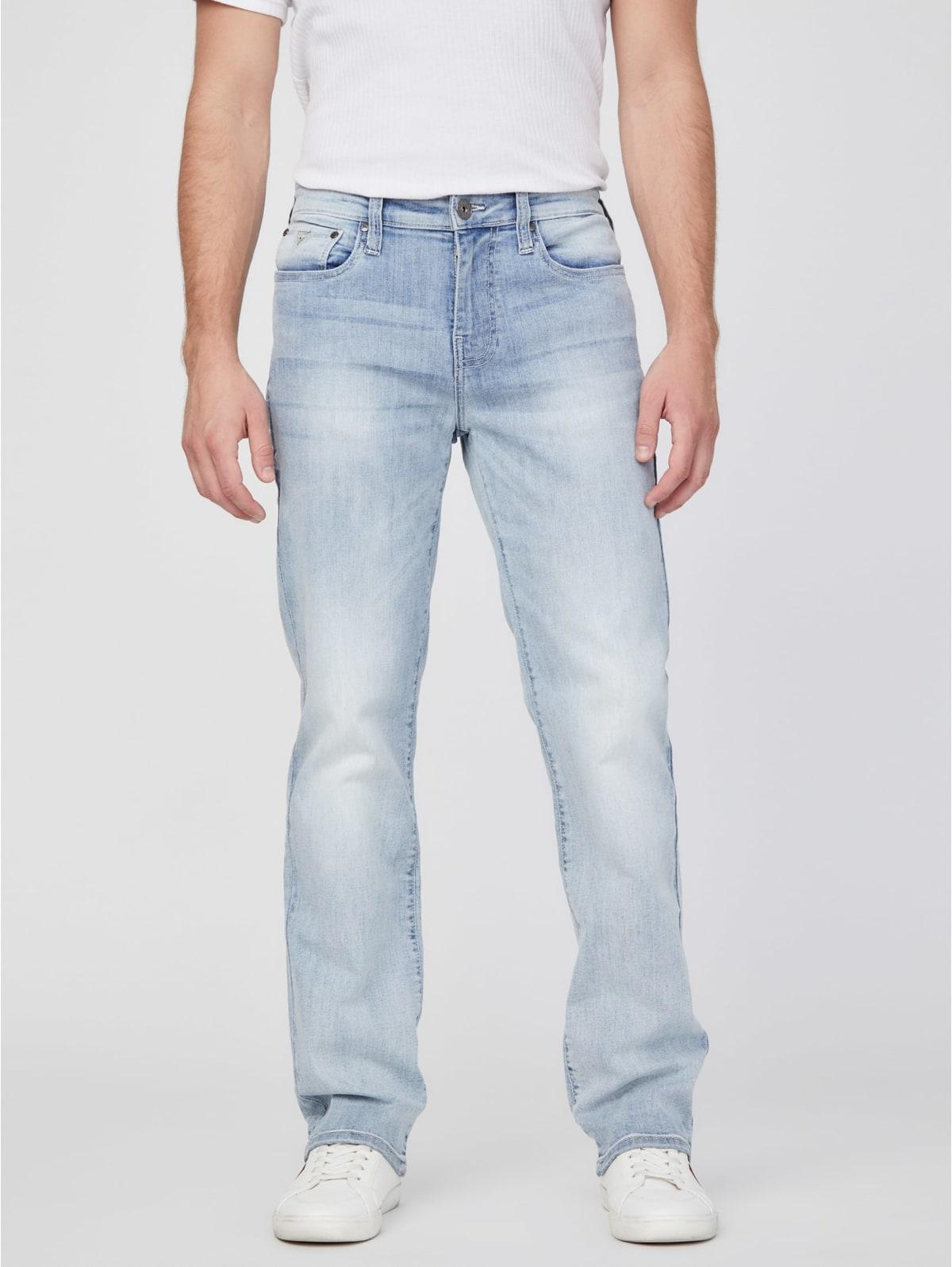 NEU MIT ETIKETT Guss Del Mar Fit W32 L30 Herren Jeans Slim Straight Dark Wash