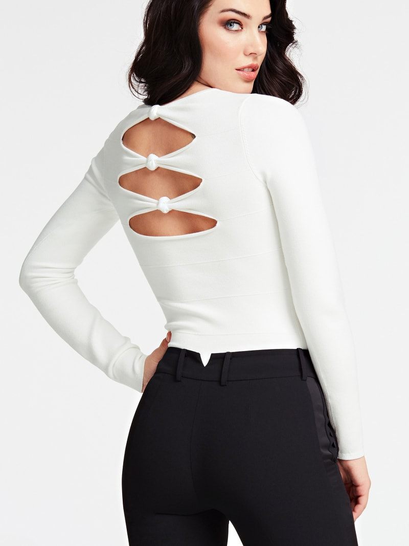 MARCIANO SWEATER CUT-OUT AT BACK image number 2