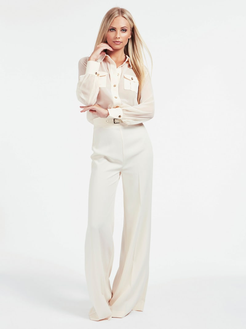 MARCIANO BUCKLE CREPE PANT image number 1