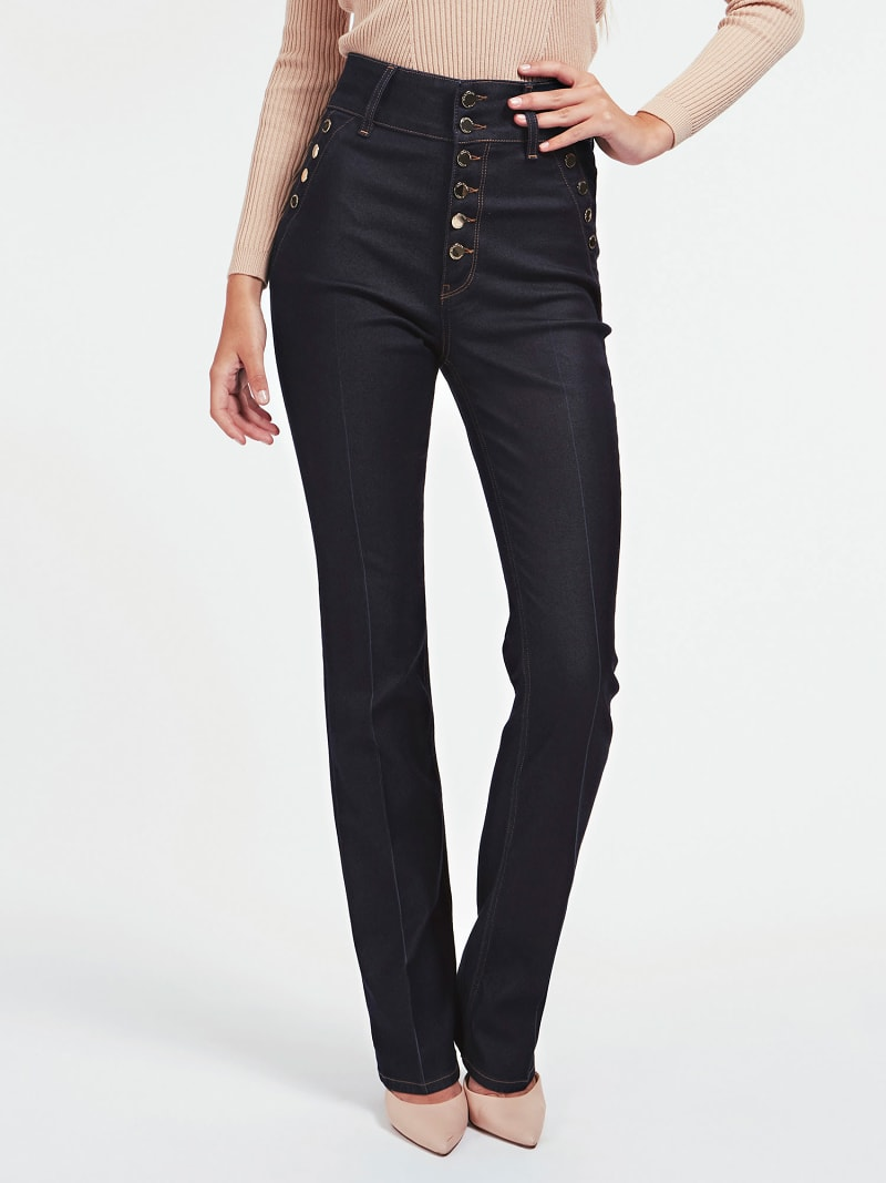 MARCIANO FLARE DENIM PANT image number 0