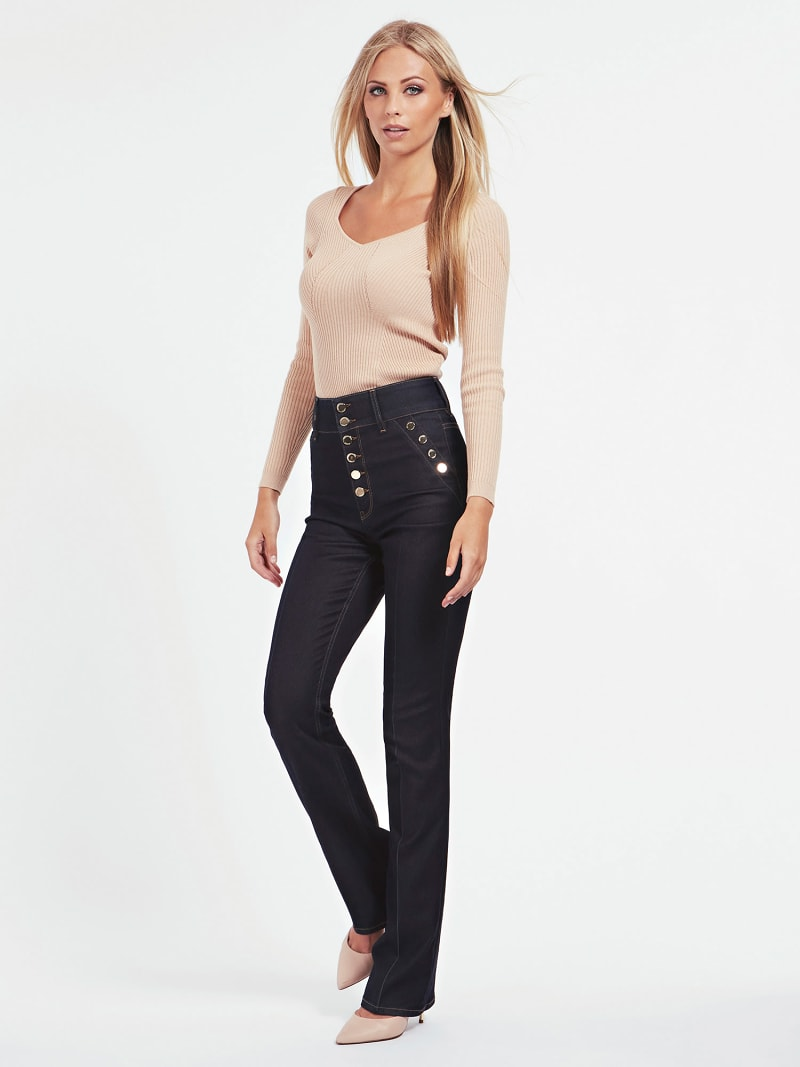 MARCIANO FLARE DENIM PANT image number 1