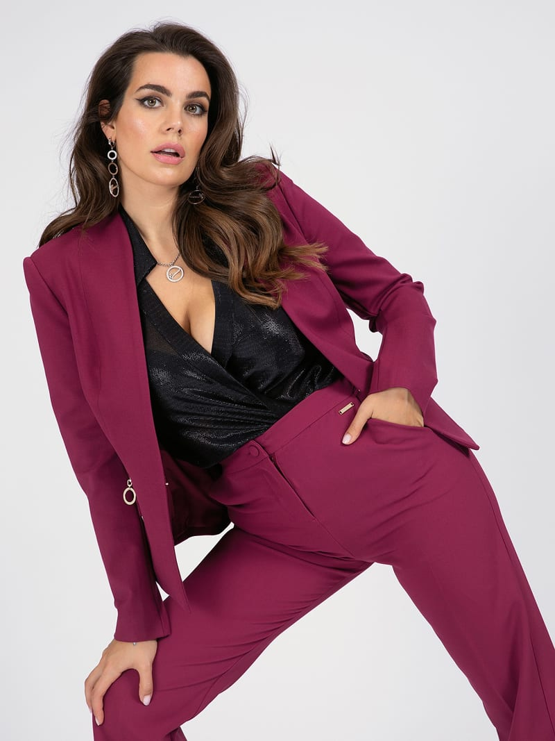 MARCIANO PONTE KNIT BLAZER image number 0