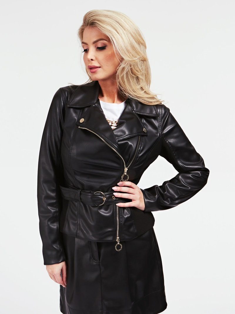 MARCIANO FAUX LEATHER JACKET image number 0