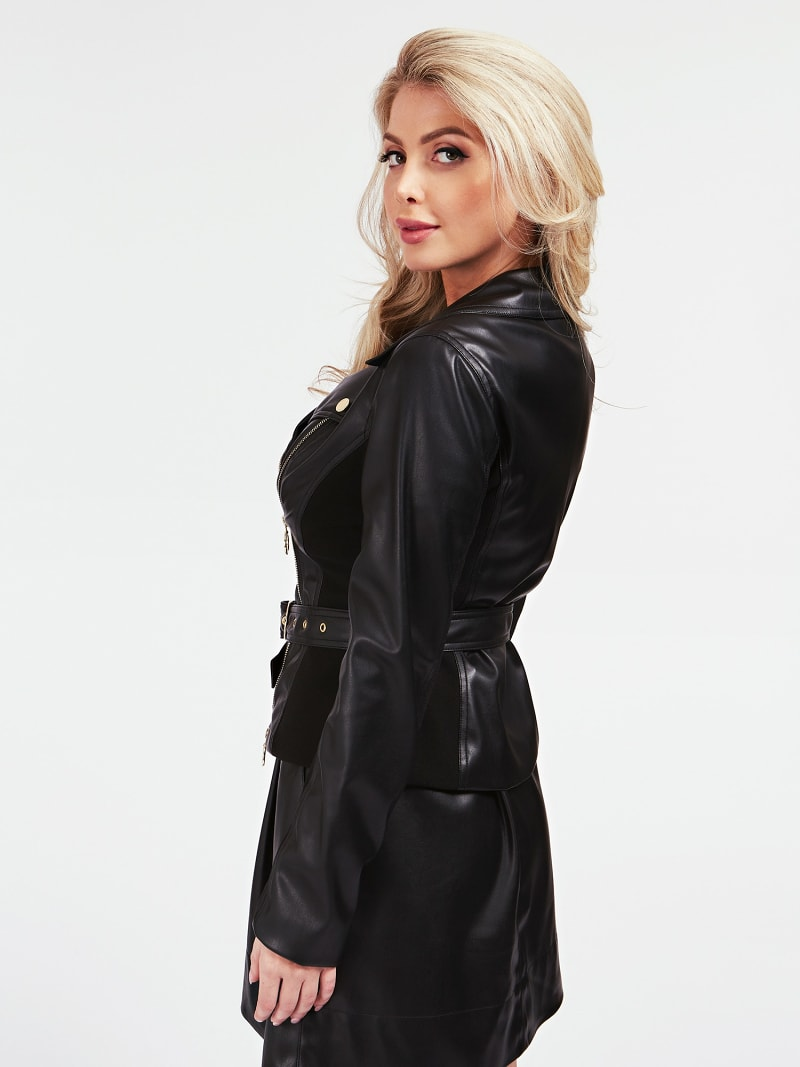 MARCIANO FAUX LEATHER JACKET image number 2