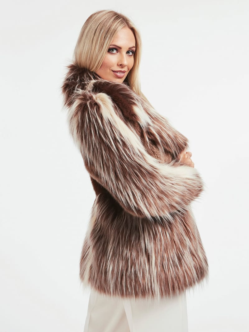 MARCIANO FAUX FUR JACKET image number 2