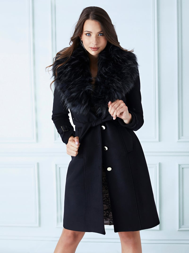 MARCIANO FAUX FUR COAT image number 0