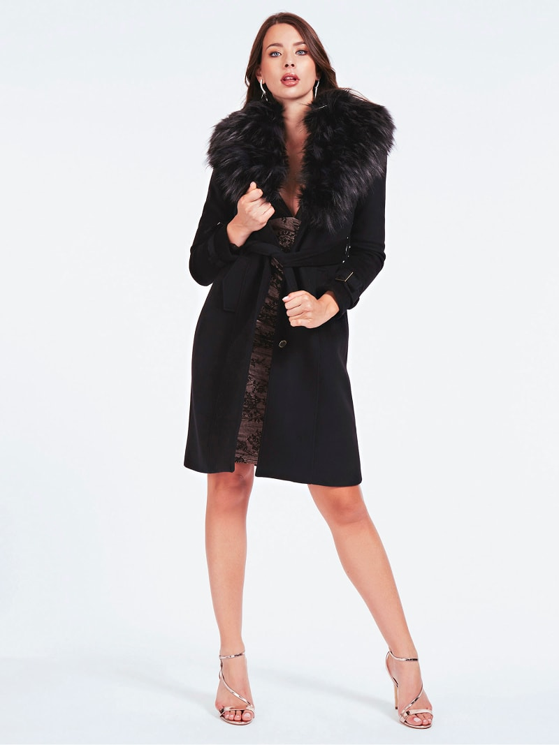 MARCIANO FAUX FUR COAT image number 2