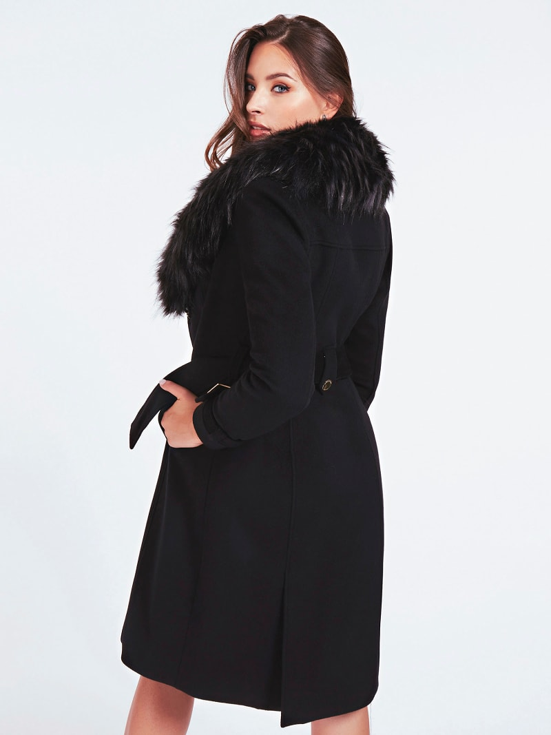 MARCIANO FAUX FUR COAT image number 3