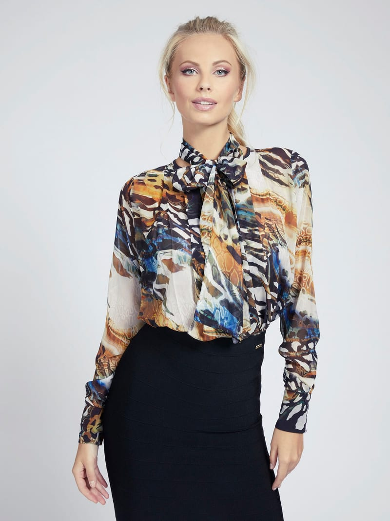 MARCIANO BLUSE ANIMAL-PRINT image number 0
