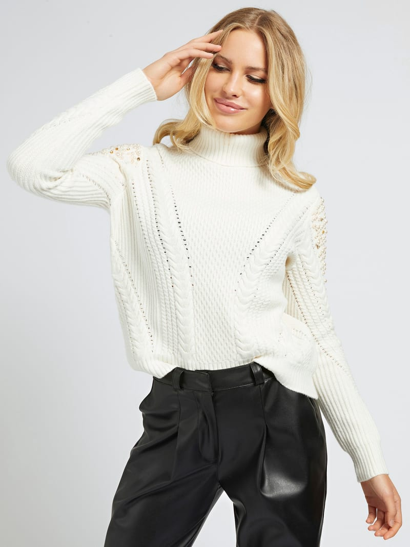 MARCIANO PEARLS SWEATER image number 0