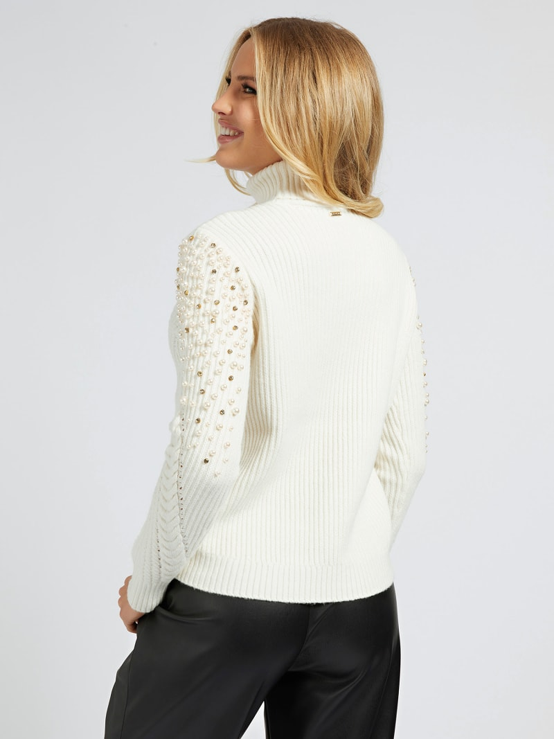 MARCIANO PEARLS SWEATER image number 2