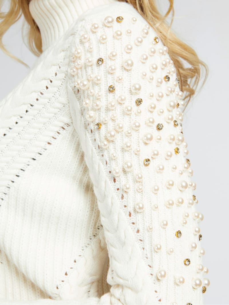 MARCIANO PEARLS SWEATER image number 3