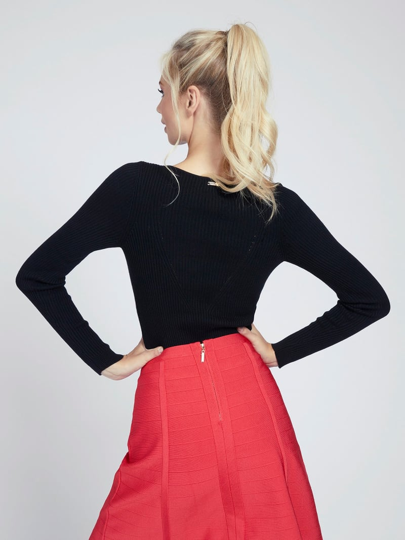 MARCIANO RIB SWEATER image number 2