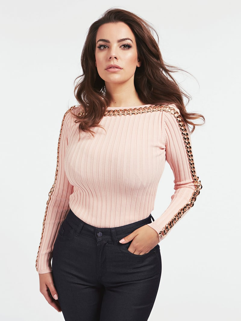 MARCIANO RIB SWEATER image number 0