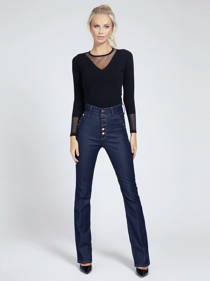 MARCIANO MESH INSERT SWEATER image number 1