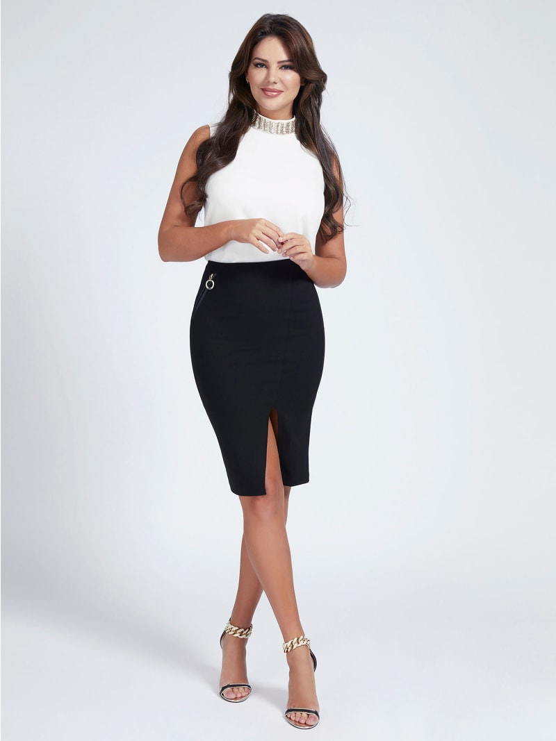 MARCIANO PONTE KNIT SKIRT image number 1
