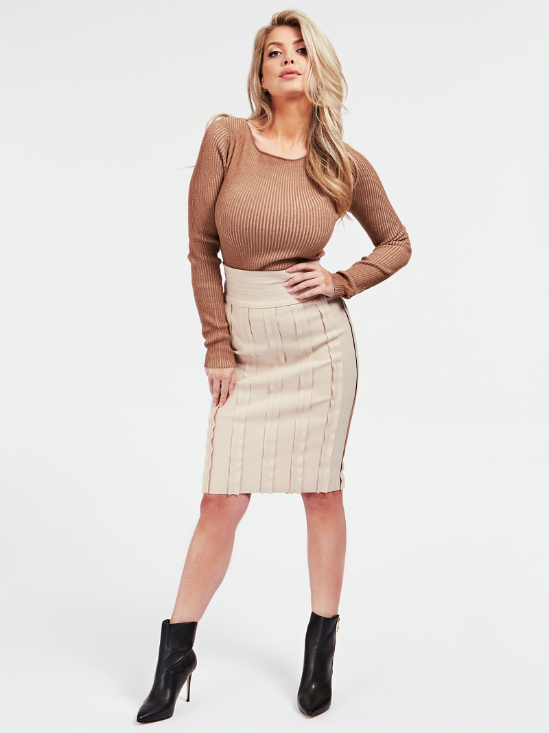 MARCIANO RAW CUT SKIRT image number 1