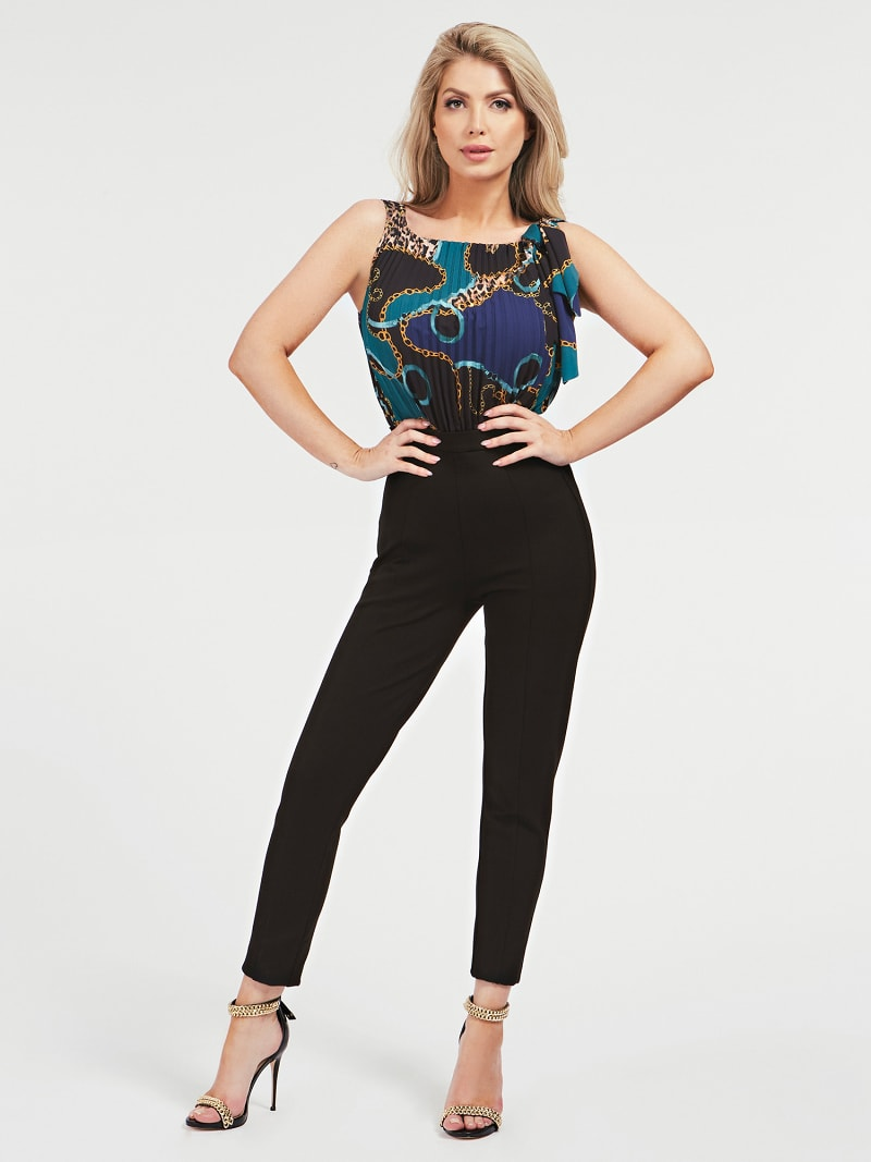 MARCIANO BOW COLLAR JUMPSUIT image number 0