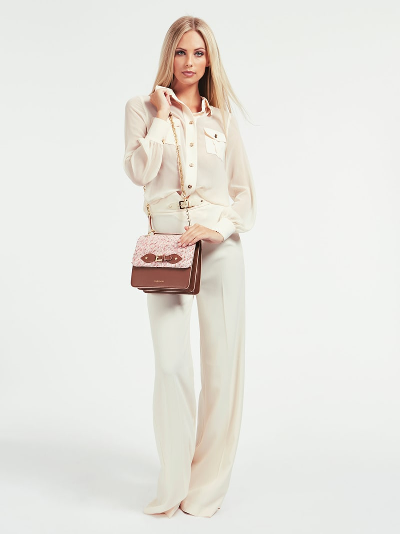 MARCIANO LEATHER CROSSBODY image number 1