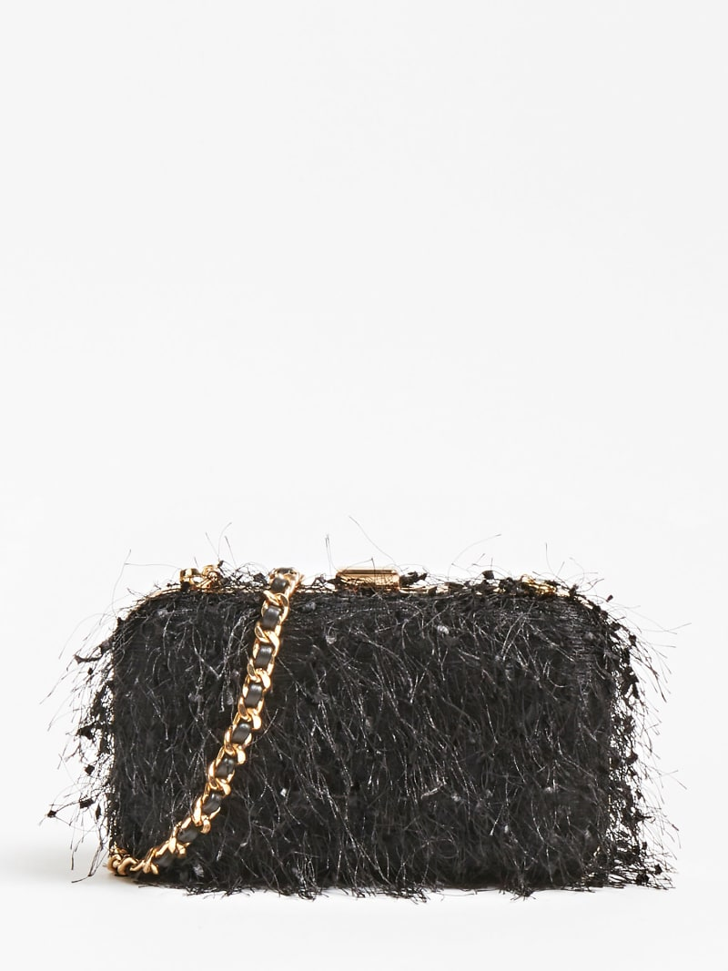 MARCIANO FEATHER LOOK CLUTCH image number 0