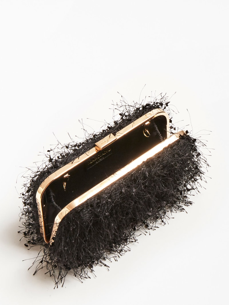 MARCIANO FEATHER LOOK CLUTCH image number 3