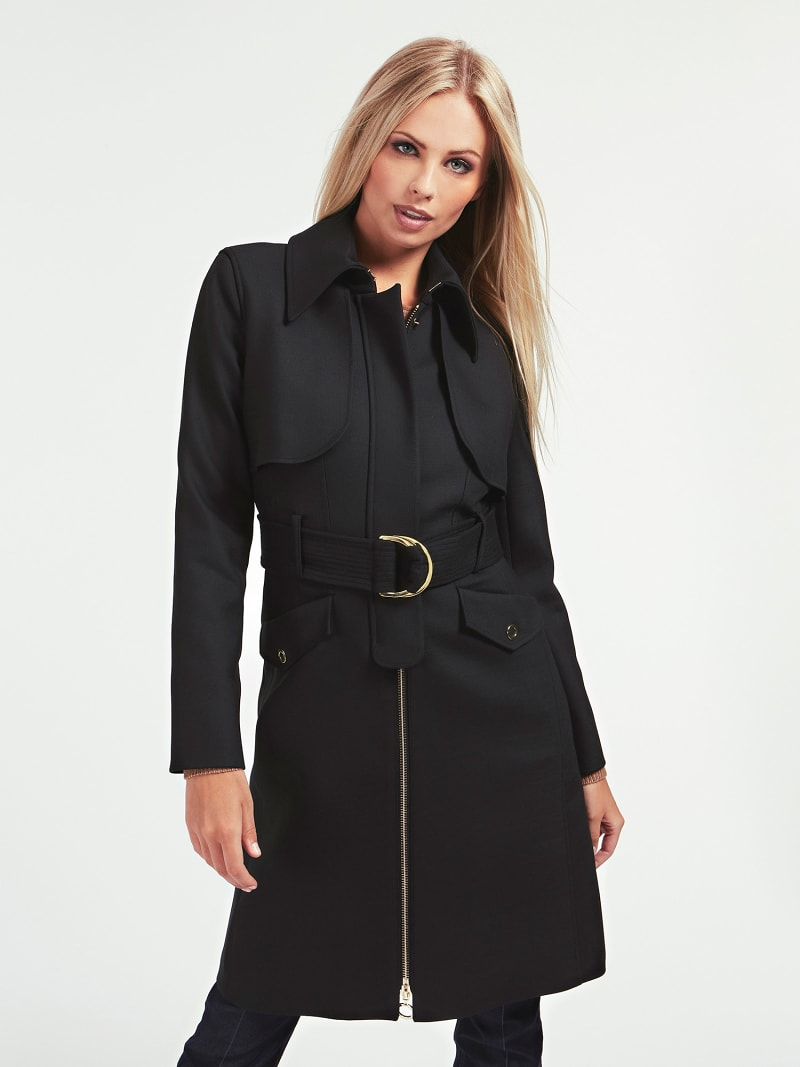 MARCIANO BELTED DRILL COAT image number 0