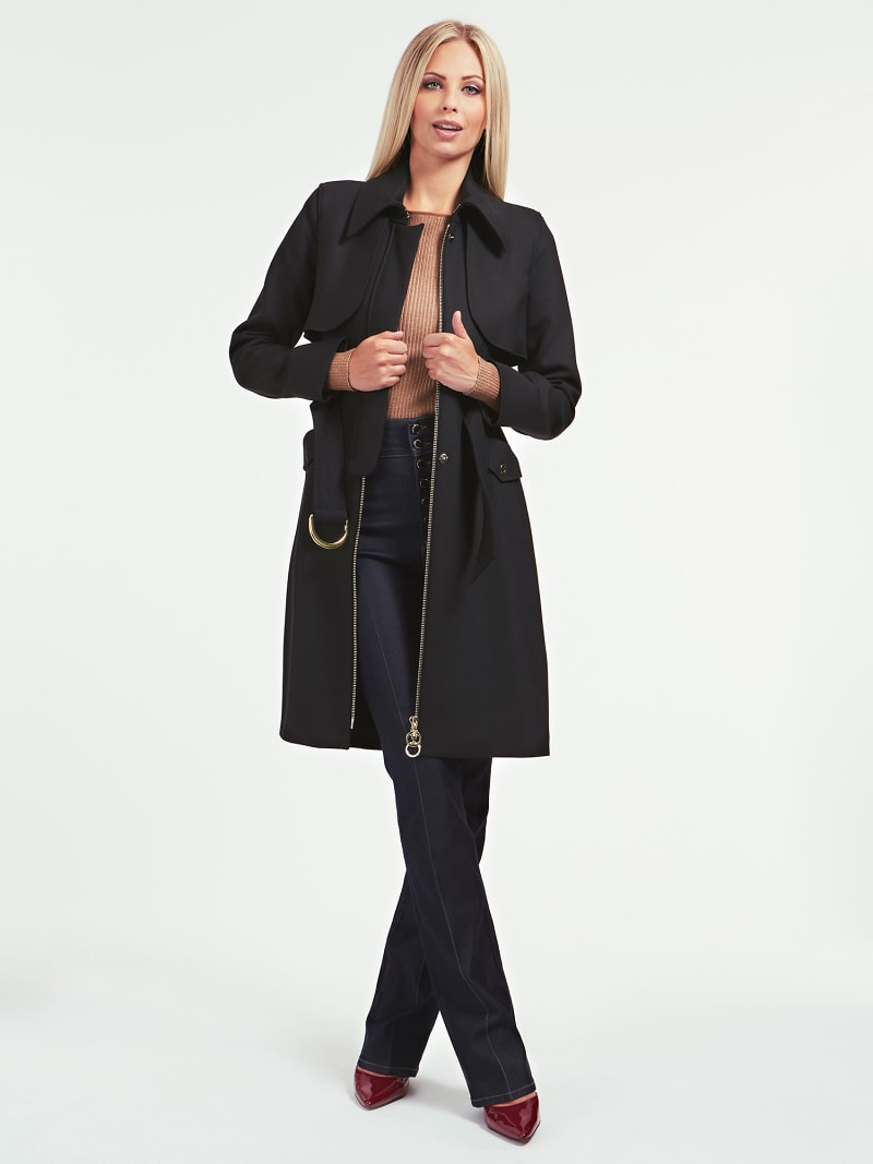 MARCIANO BELTED DRILL COAT image number 1