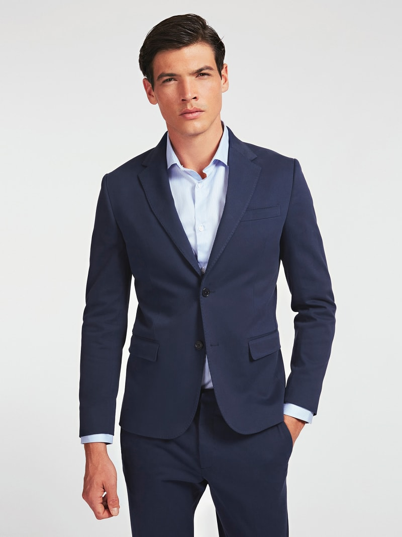 MARCIANO SUPIMA COTTON TWILL BLAZER image number 0