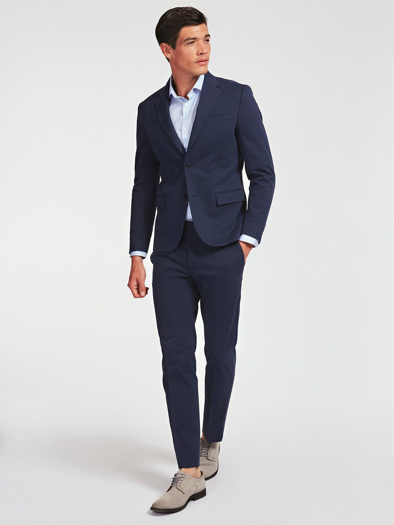 MARCIANO SUPIMA COTTON TWILL BLAZER image number 1