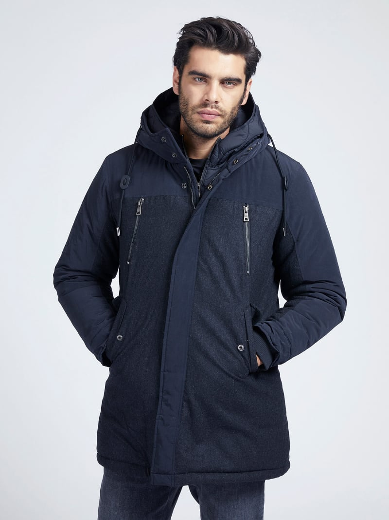MARCIANO WOOL BLEND PARKA image number 0
