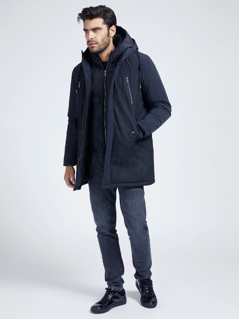 MARCIANO WOOL BLEND PARKA image number 1