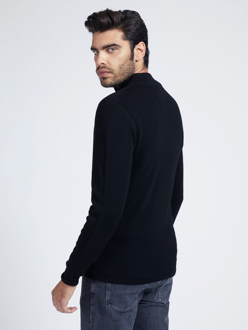 MARCIANO ZIPPER RIB SWEATER image number 2