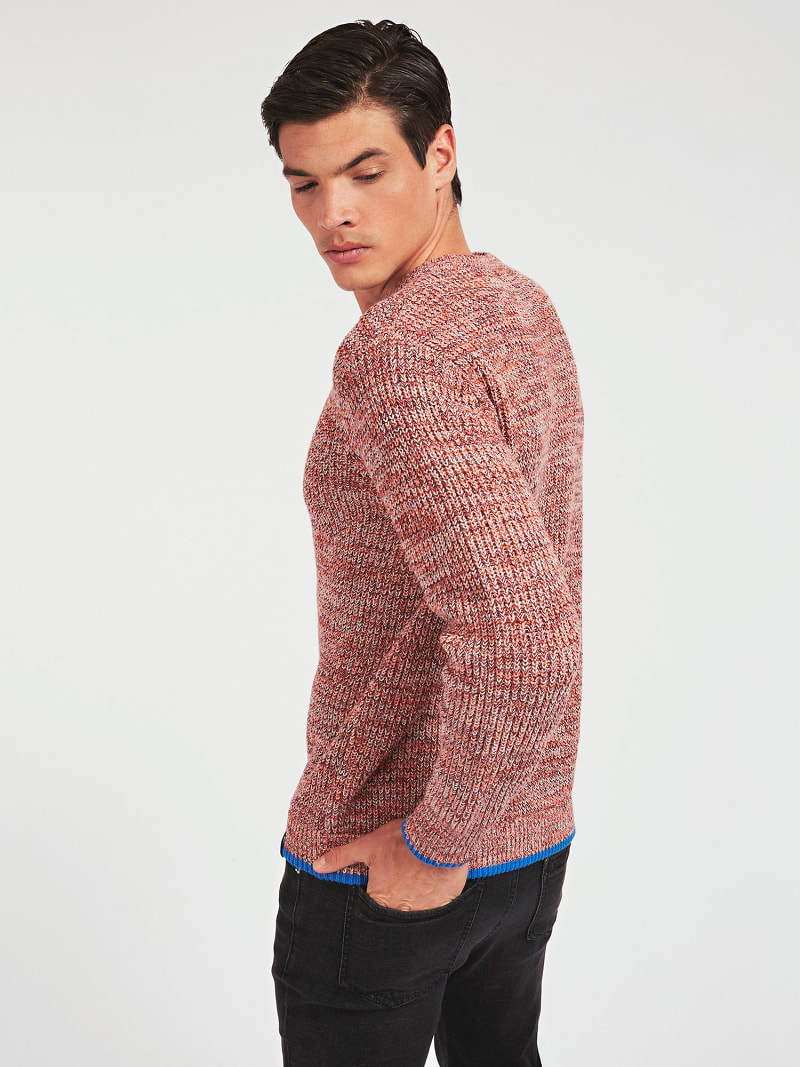MARCIANO COTTON BLEND SWEATER image number 2