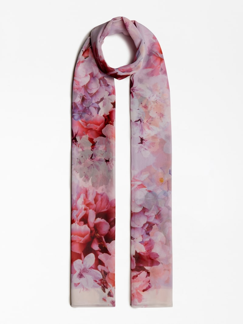 MARCIANO FLORAL PRINT SCARF image number 1