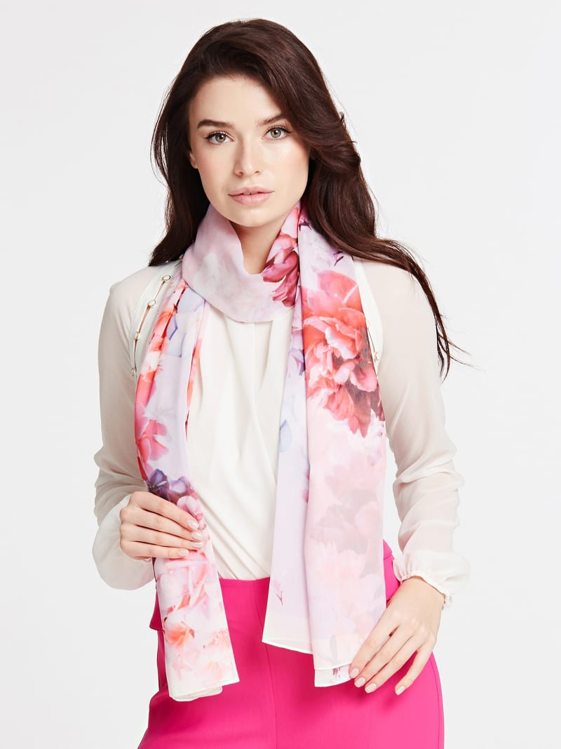 MARCIANO FLORAL PRINT SCARF image number 2
