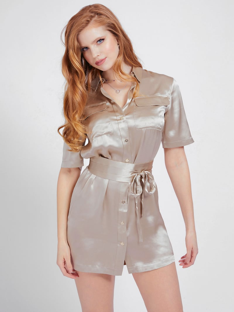 MARCIANO SILK CHEMISIER DRESS image number 0