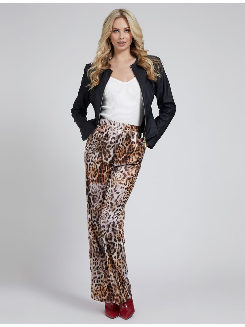 MARCIANO FAUX LEATHER JACKET image number 1