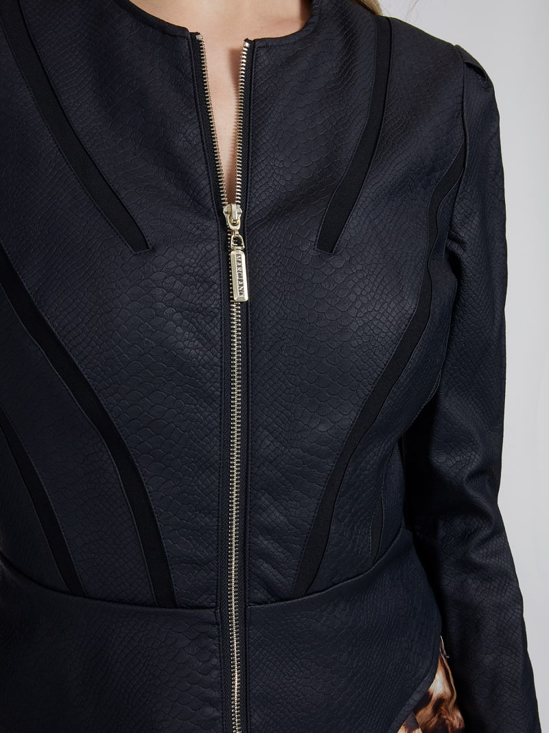 MARCIANO FAUX LEATHER JACKET image number 3
