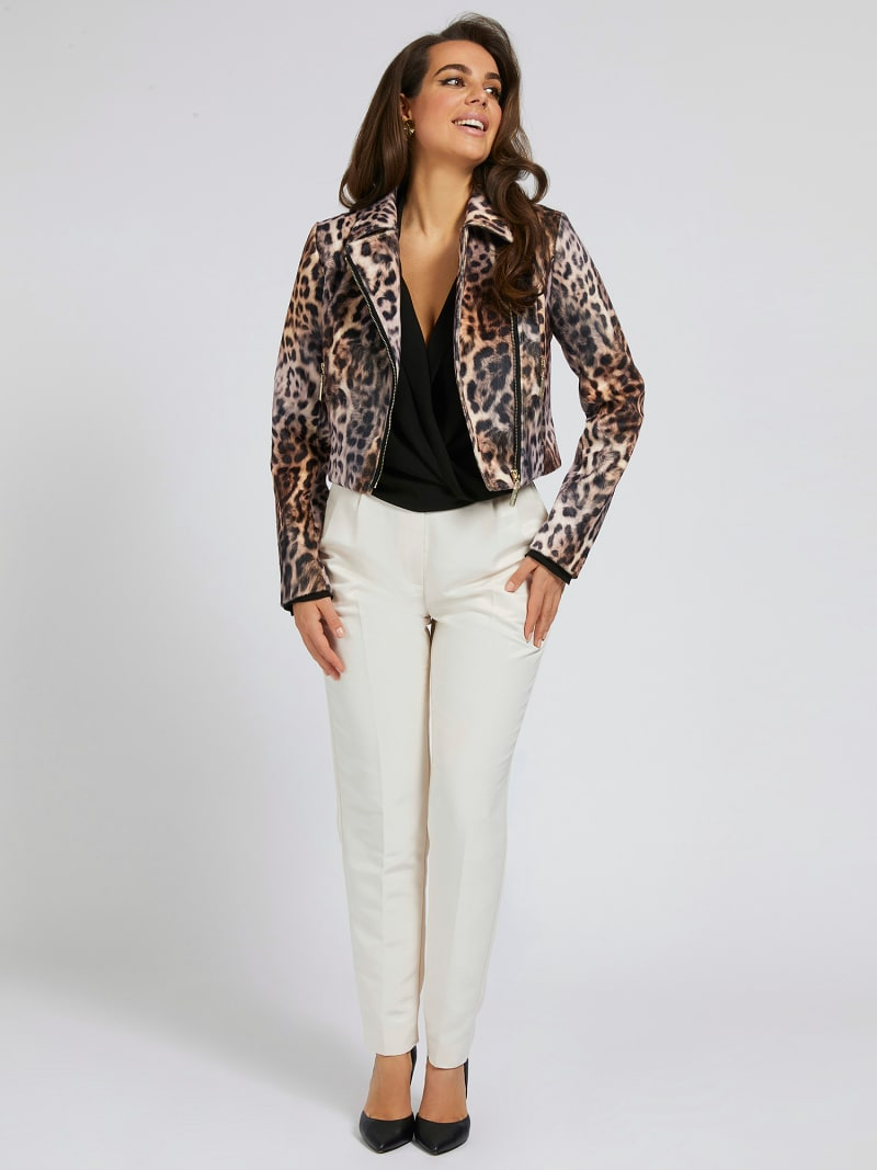 MARCIANO PRINT FAUX LEATHER JACKET image number 1