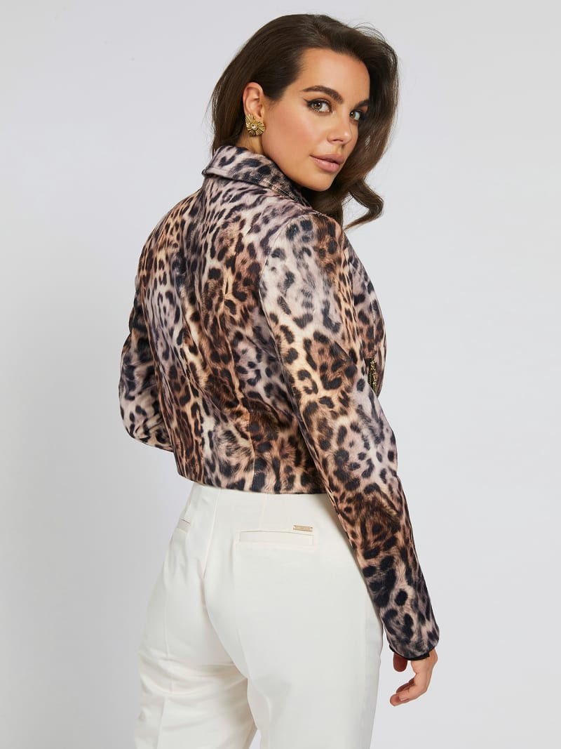 MARCIANO PRINT FAUX LEATHER JACKET image number 2