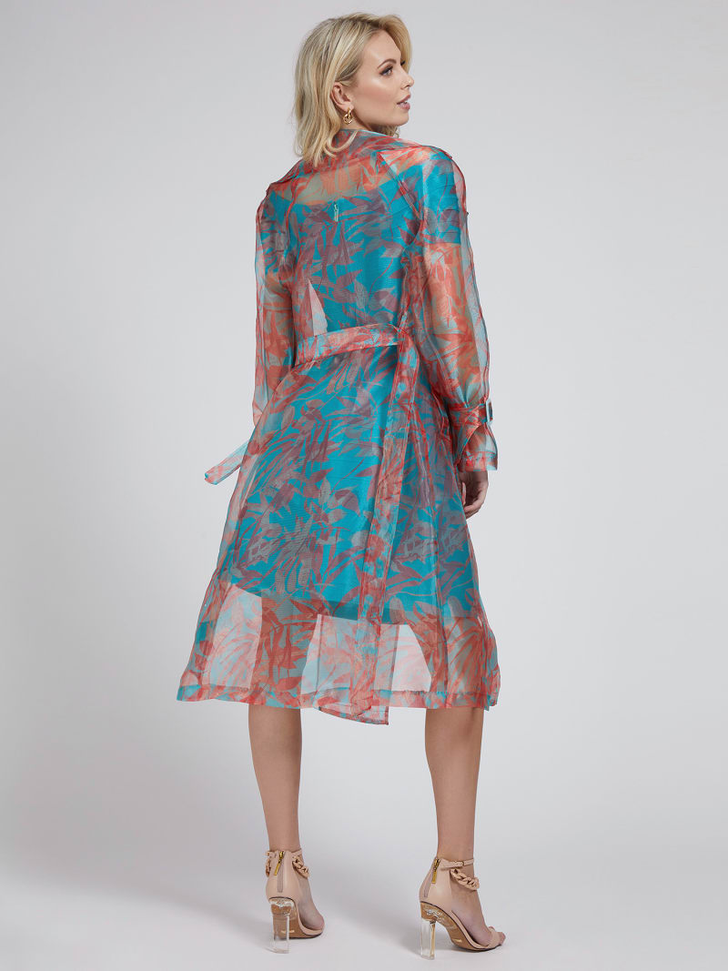 MARCIANO FLORAL PRINT TRENCH image number 1