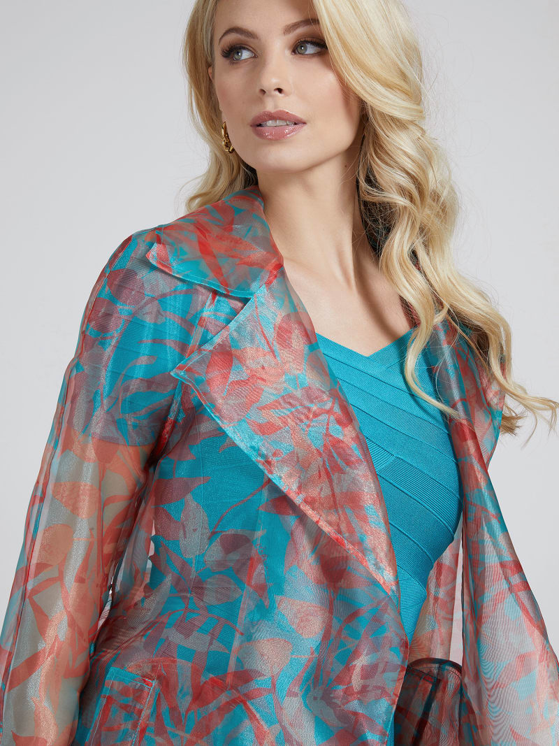 MARCIANO FLORAL PRINT TRENCH image number 2