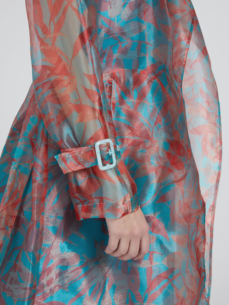 MARCIANO FLORAL PRINT TRENCH image number 3