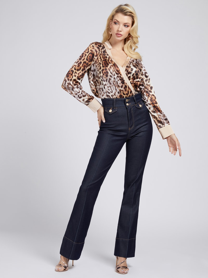 MARCIANO PRINT BLOUSE image number 1