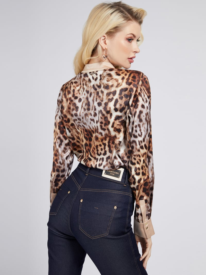 MARCIANO PRINT BLOUSE image number 2