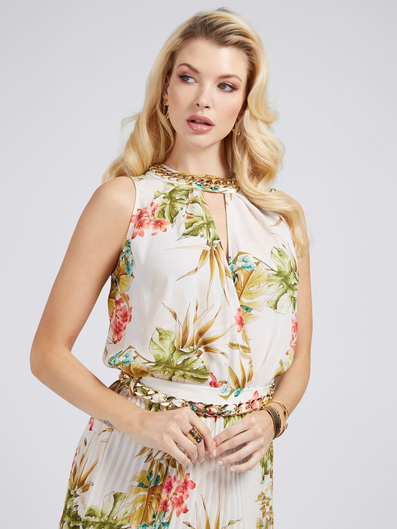 MARCIANO FLORAL PRINT TANK TOP image number 0
