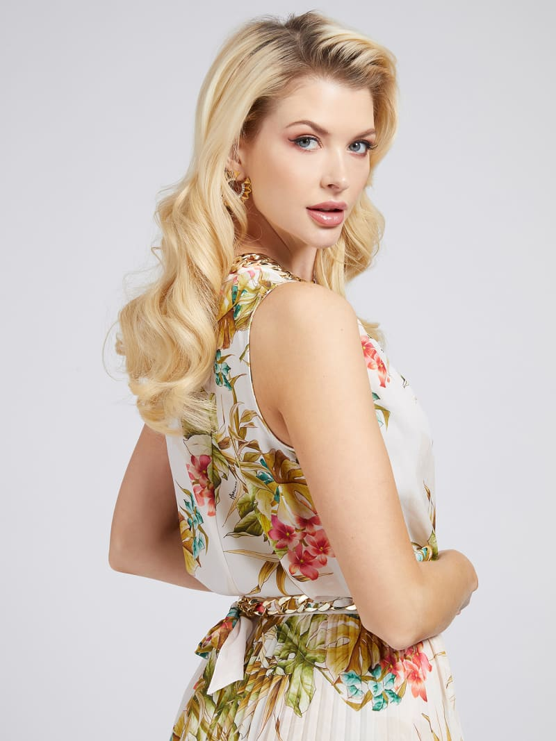 MARCIANO FLORAL PRINT TANK TOP image number 2