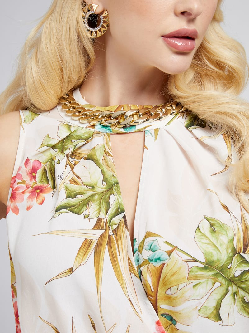 MARCIANO FLORAL PRINT TANK TOP image number 3