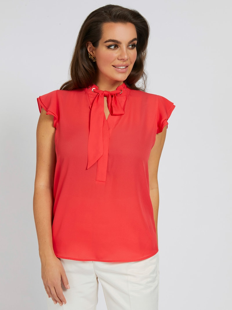 MARCIANO EMBROIDERED TOP image number 0