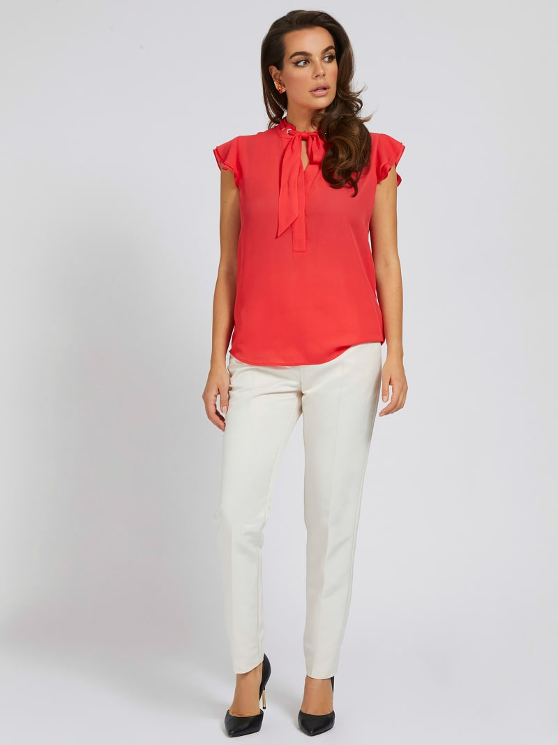 MARCIANO EMBROIDERED TOP image number 1